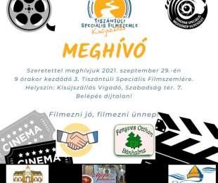 Meghívó - 3. Tiszántúli Speciális Filmszemle, Kisújszállás